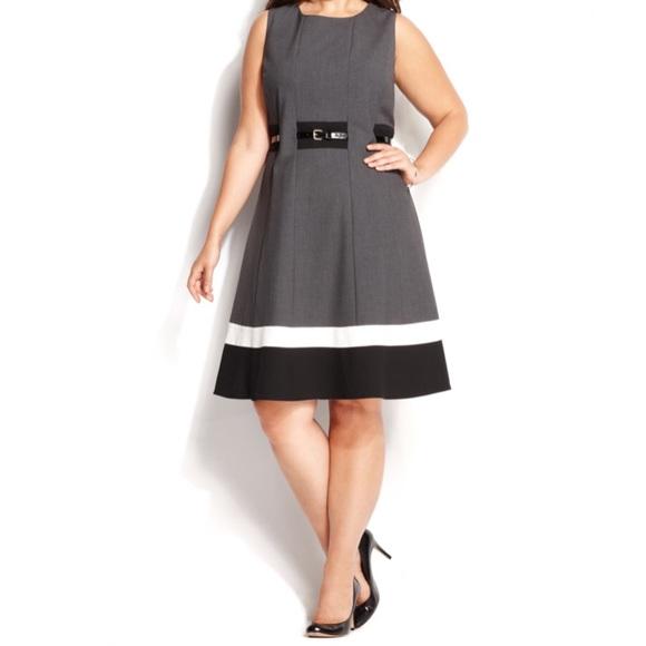 Calvin Klein Plus Size Dress Career Dress Size 22W